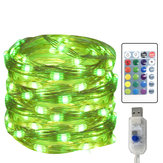 Original 5 Meters 50 Light LED Four-wire 16 Color USB with Remote-Controlled Adjustable Copper Light Four-wir