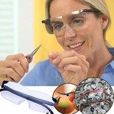 Lupa 250 Grados Presbicia Gafas Lupa Lentes de aumento Gafas Protección ocular PC Moda Portátil Unisex