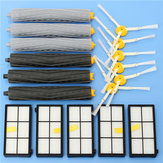 17pcs Filters and Brushes Vacuum Cleaner Accessories Parts for iRobot Roomba  800 900 Series