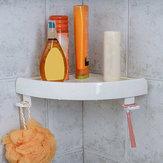 CuartodebañoSoporteparaestante de papel de almacenamiento de esquina para ducha Porta de soporte para estante blanco Organizador