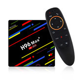 H96 Max Plus RK3328 4G / 32G Android 8.1 USB 3.0 Controllo vocale TV Scatola Supporto HD Netflix 4K Youtube