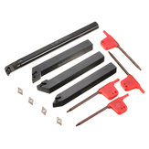 4pcs 12mm Lathe Boring Bar Tunring Tool Holder With 4pcs DCMT0702 Insert