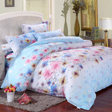 3 Or 4pcs Flower Paint Printing Bedding Sets Pillowcase Quilt Duvet Cover Twin Full Queen Size