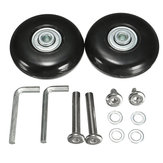 OD 55mm Luggage Suitcase Replacement Wheels Axles and Rubber Repair 2 Set