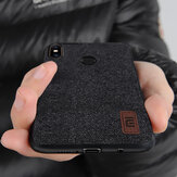 Bakeey Luxury Fabric Splice Soft Silicone Edge Shockproof Protective Case For Xiaomi Mi8 Mi 8