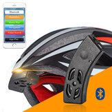 rockbros inteligentes montar de audio Bluetooth del casco de campana de la bicicleta altavoz manos libres llamada telefónica de voz de navegación IP54 a prueba de agua