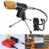Registrazione audio a condensatore USB dinamica audio Vocal Microfono Mic con supporto di supporto