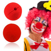 Original Cute Clown Nose Red Sponge Nose Sponge Ball Red Clown Magic Nose for Halloween Party Decorations