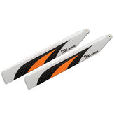 1 Pair RJX 155mm Carbon Fiber Main Blade For 180CFX RC Helicopter Orange / Green