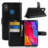 Bakeey Flip Card Slot PU Leather Case Protective Case For Xiaomi Redmi Note 6 Pro