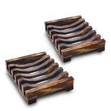10.8x8x2.5 سنتيمتر خشبية اليدوية الحمام صحن الصابون بالوعة حامل الإسفنج أشتات الرف