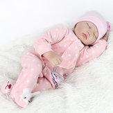 22inch renacido bebé muñeca de silicona hechos a mano muñecas reales jugar casa juguete