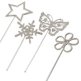 Diamante Rhinestone Gem Cake Pick Topper Weddings Birthdays Annivesary Accessory