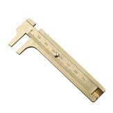 Pocket 12cm/80mm Mini Brass Sliding Ruler Gauge Vernier Calip Metal Copper Brass Straight Ruler Metal Calipers Gauge Micrometer Bead Wires Jewelry Measuring Tools Office School Supplies