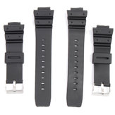 16mm Silicone Black Strap Watch Banda para Casio G-Shock