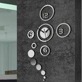 Honana DX-X1 Creative 3D Acrylic Mirror Wall Sticker Quartz Clocks Watch Large Home Decor