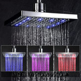 Bathroom No Battery 10.5 Inch LED Automatic Tempertrue Sensor Control Shower Head  3 Color Light