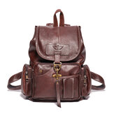 Women Men Retro Faux Leather Vintage Shoulder Bag Satchel