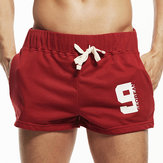 SEOBEAN Men's Elastic Waist Home Shorts