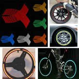 16-18 Inches Wheel Sticker Reflective Rim Stripe Decals Tape for Car Bike Motorcycle