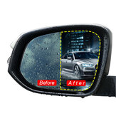 2Pcs 175x200mm Car Anti Fog Nano Coating Rainproof Rear View Mirror Window Protective Film