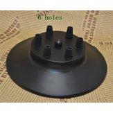 Black Color Porous Heads Ceiling Lamp Base for Vintage Pendant Light