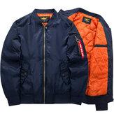 Plus Size XS-6XL Bomber Jacket Fashion Casual Flight Jacket