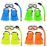 Junior Children Snorkeling Set Diving Mask Goggles Flippers Scuba Swimming Diving Kids Set
