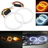 Pair 60/70/80/90/100/110mm 2835 LED Angel Eyes Lights Halo Ring DRL Turn Signal Light