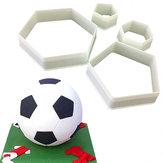 4pcs Football Fondant Cutter Plastic Cutter Fondant Molds Cake Decorating Molds Cake Moulds Chocolate  Moulds Baking Mold