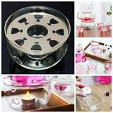 Heat Resisting Clear Glass Round Shape Teapot Warmer Base Teapot Heater