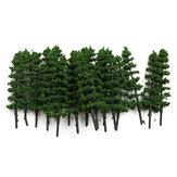 20pcs 1: 100 árboles de los abetos modelan el paisaje del jardín del parque de la calle del verde del camino ho oo n