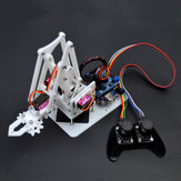 SNAM5100 DIY Arduino 4DOF Acrylic RC Robot Arm PS2 Stick Control With MG90S Servos