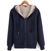 Original ChArmkpR Mens Winter Fleece Thick Warm Hooded Cardigan Coats