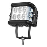 4 pulgadas LED luz de trabajo 20 W 2880LM tirador lateral de doble color conducción intermitente Lámpara para Tractor Off-Road