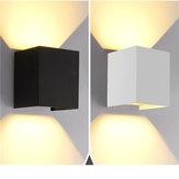 12W Up / Down Appliques de la lampe de mur lumière blanc chaud / blanc imperméable à l'eau pour la chambre à coucher AC85-265V