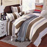 3 Or 4pcs Stripe Cotton Blend Paint Printing Bedding Sets Twin Full Queen Size