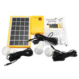 Solar Power Panel Generator Kit 5V USB Charger Home System with 3 LED Bulbs Light