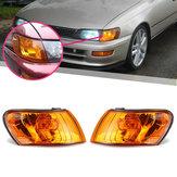 Parking Corner Light Cover Orange Lens Pair for Toyota Corolla AE100 AE101 E100 1993-1997