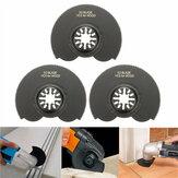 3pcs 88 mm alto en carbono de acero Semicircle Flush Saw Cuchillas Otosillating Multitool Accesorios