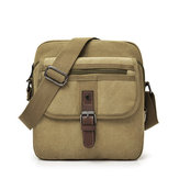 Uomo Canvas Multifunzione Vintage Crossbody Borsa Spalla Borsa Casual Business Pack di viaggio