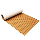 900x2400x6mm EVA Foam Gold With Black Line Marine Flooring Faux Teak Boat Decking Sheet