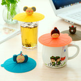 Silicone Leakproof Coffee Mug Suction Lid Cap Airtight Sealed Cup Cover
