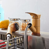 KCASA Kitchen Pull Out Cool Painted Finish Grifos mezcladores flexibles y fríos Grifería giratoria de montaje en cubierta