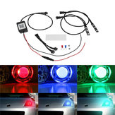 Pair bluetooth APP Control 5050 RGB LED Demon/Angel Eyes Lights for Offroad Headlight Retrofit