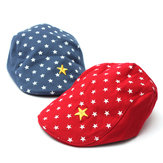 Baby Stars Cotton Beret Hats Flat Peaked Baseball Cap for Boys Girls