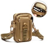 6inches Cell Phone Men Nylon Crossbody Bag Tool Tactical Bag