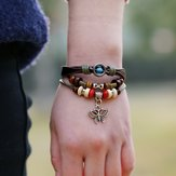 Vintage Butterfly Multi Layer Bracelet
