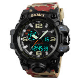 SKMEI 1155 50M Waterproof Men Sport Watch Camouflage Compass LED Digital Watch