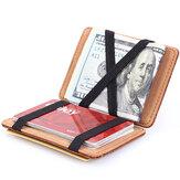 PU Money Card Clip Magic Wallet Casual Clutch Bus Card Bag